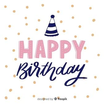 Fondo creativo feliz cumpleaños letras