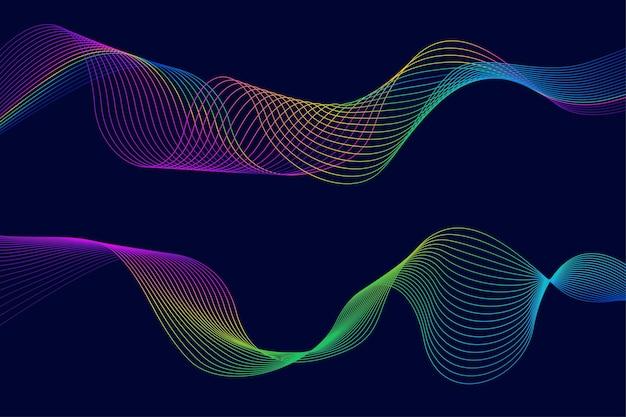 Fondo creativo fluido abstracto con ondas lineales dinámicas