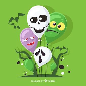 Fondo creativo de globos de halloween