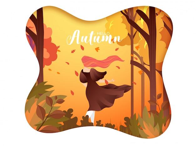 Fondo creativo hola otoño.