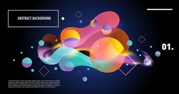Fondo creativo de moda gradiente geométrico de formas