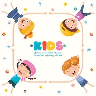 Fondo creativo con niños divertidos