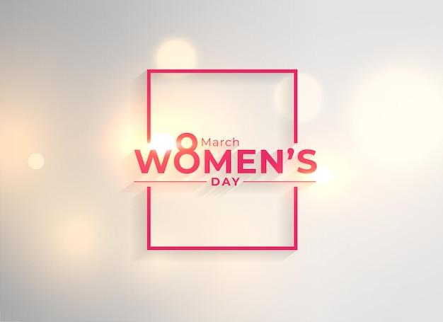 Fondo creativo de la tarjeta de deseos del día de la mujer feliz