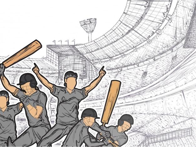 Fondo de cricket.