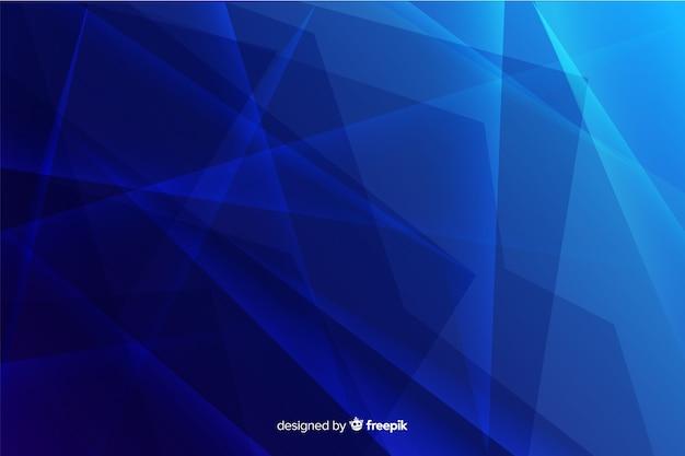 Fondo de cristal azul degradado roto abstracto