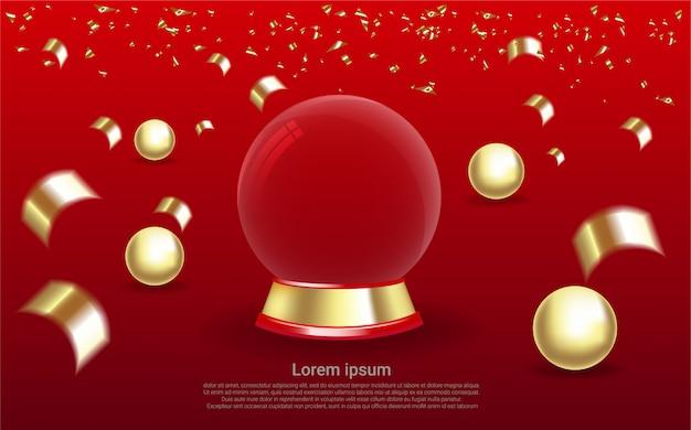 Fondo de cristal de globo realista de lujo.