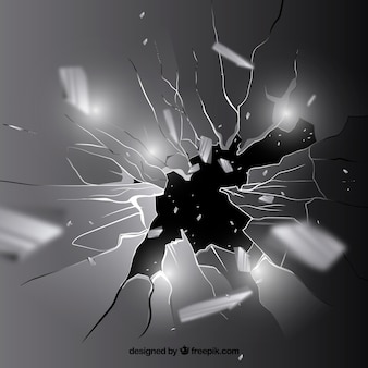 Fondo de cristal roto en estilo realista