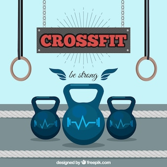 Fondo de crossfit con pesas
