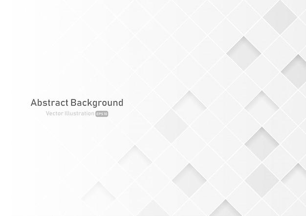 Fondo cuadrado abstracto de color blanco y gris