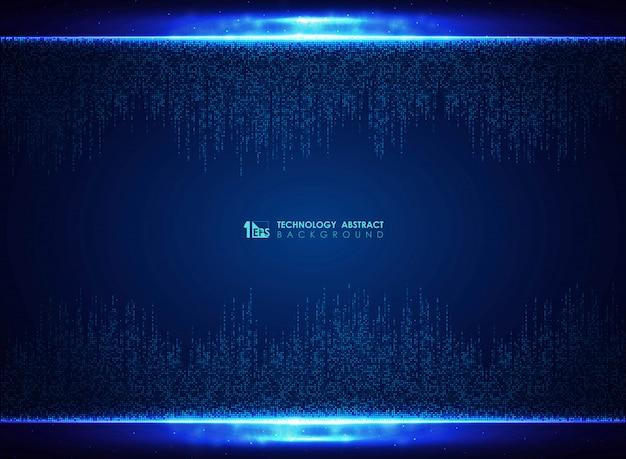 Fondo cuadrado azul de la decoración del diseño del modelo de la tecnología