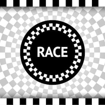 Fondo cuadrado de carrera, banner a cuadros