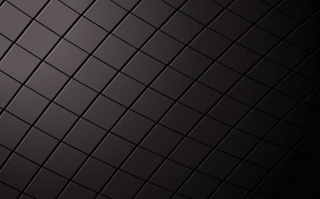 Fondo cuadrado negro abstracto.