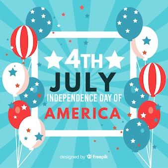 Fondo del cuatro de julio