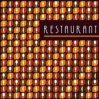 Fondo de cubertería de restaurante