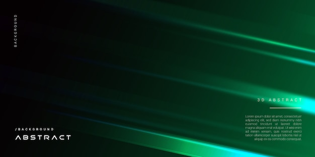 Fondo de cubierta geométrica verde elegante 3d oscuro