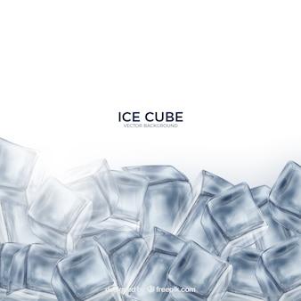 Fondo de cubitos de hielo con estilo realista