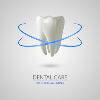 Fondo de cuidado dental realista 3d
