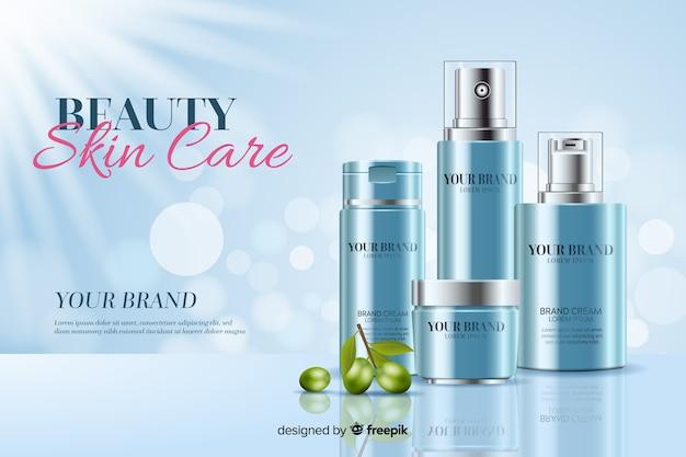 Fondo de cuidado de piel de belleza