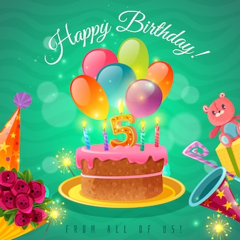Fondo de cumpleaños de celebración