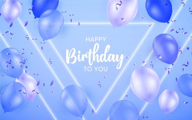 Fondo de cumpleaños de colores neón
