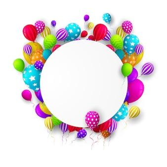 Fondo de cumpleaños colorido con lugar para texto