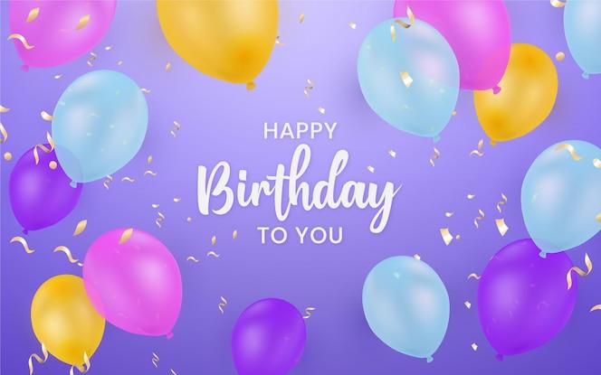 Fondo de cumpleaños colorido