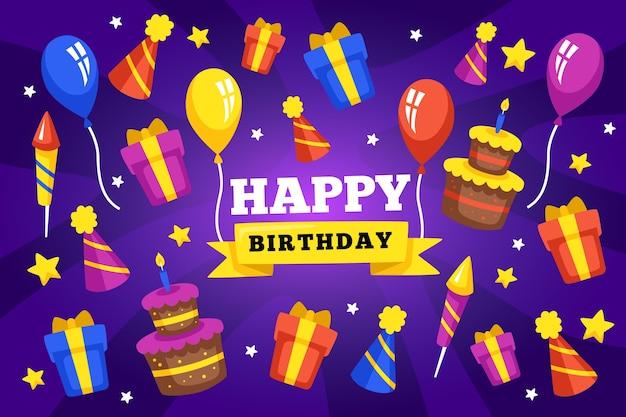 Fondo de cumpleaños con decoraciones