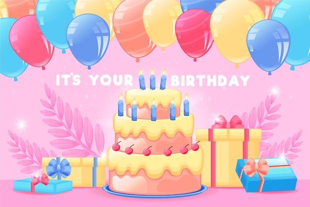 Fondo de cumpleaños detallado