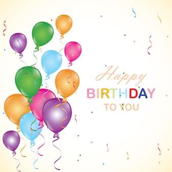Fondo de cumpleaños con globos.