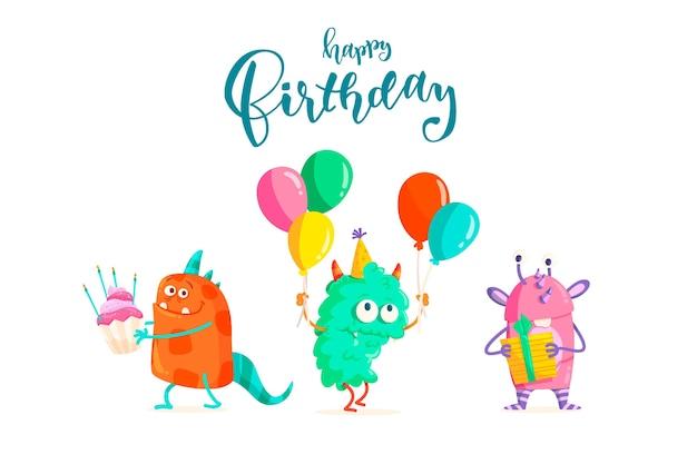 Fondo de cumpleaños con letras