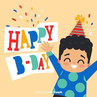 Fondo cumpleaños niño feliz