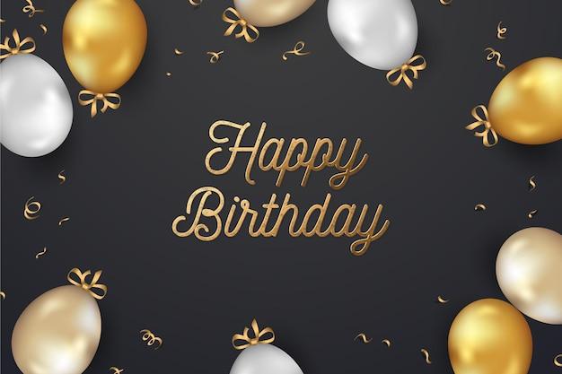 Fondo de cumpleaños realista