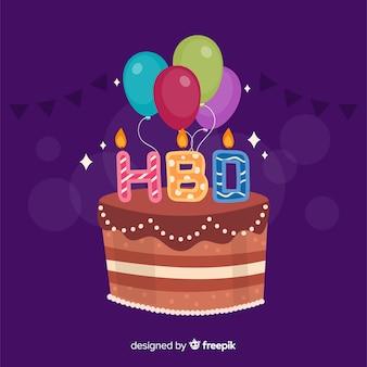 Fondo cumpleaños tarta colorida
