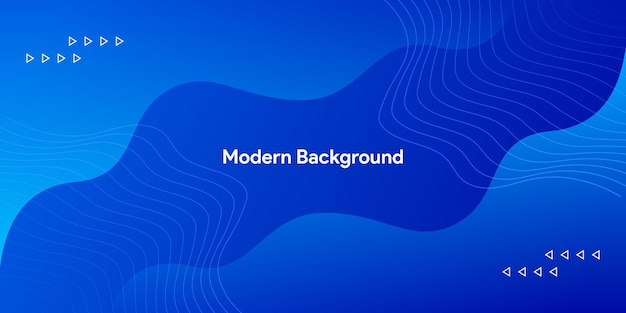 Fondo de curva azul moderno moderno fluido con línea elegante brillante