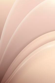 Fondo curvo abstracto beige