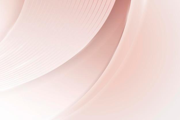 Fondo curvo abstracto rosa suave