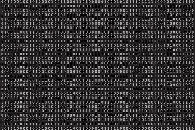 Fondo de datos de programa programación de codificación binaria ilustración de vector de matriz