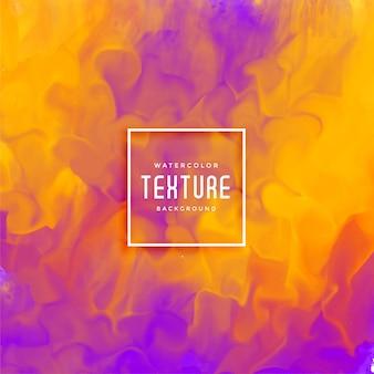 Fondo de acuarela de flujo de tinta abstracta púrpura y amarillo