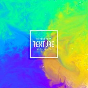 Fondo de acuarela de flujo de tinta brillante colorido abstracto