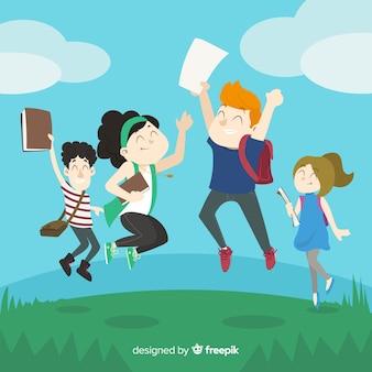 Fondo de alumnos felices