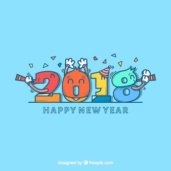 Fondo de año nuevo con números