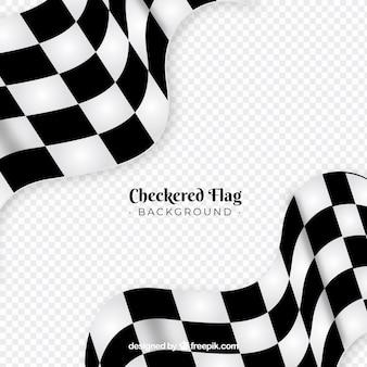 Fondo de bandera a cuadros