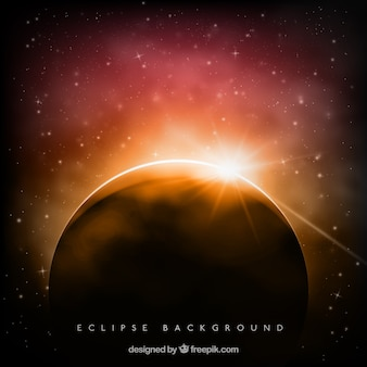 Fondo de bello eclipse con destello