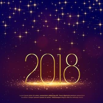 Fondo de brillo 2018 con destellos para feliz año nuevo