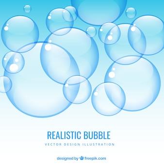 Fondo de burbujas realistas