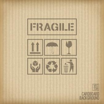 Fondo de cartón con signos ecológicos