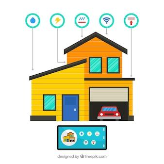 Fondo de casa inteligente