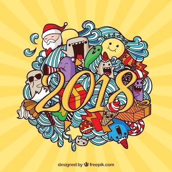 Fondo de celebración de año nuevo 2018