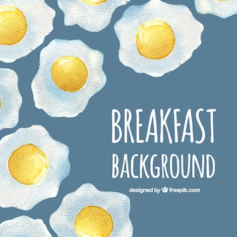 Fondo de comida deliciosa con huevos