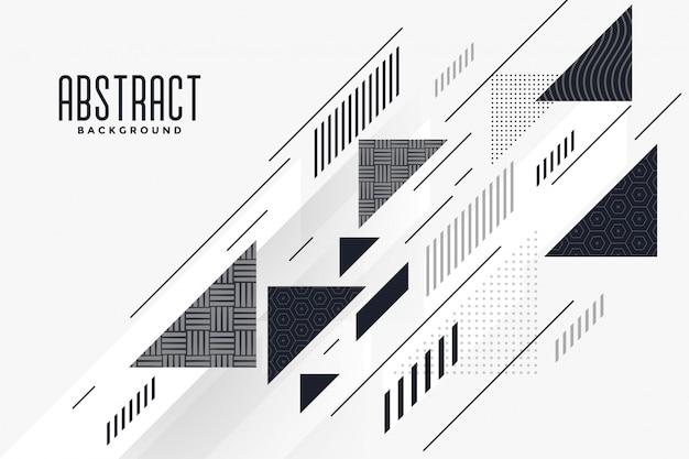 Fondo de composición moderna triángulo y líneas abstractas